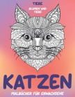 Malbücher für Erwachsene - Blumen und Tiere - Tiere - Katzen Cover Image