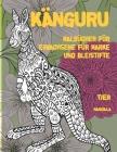 Malbücher für Erwachsene für Marker und Bleistifte - Mandala - Tier - Känguru Cover Image