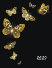 2020 Monthly Planner: Large Monthly Planner with Inspirational Quotes (Gold Butterflies) Cover Image