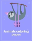 Animals Coloring Pages: Cute Christmas Animals and Funny Activity for Kids (Early Childhood Education #10) Cover Image