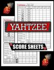 Yahtzee Score Sheets: 100 Yahtzee Score Pads, Game Record Score Keeper Book, Score Card Cover Image