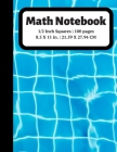 Math Notebook: 1/2 inch Square Graph Paper for Students and Kids, 100 Sheets (Large, 8.5 x 11) Cover Image
