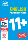 Letts 11+ Success — 11+ English Practice Test Papers - Multiple-Choice: For The Gl Assessment Tests Cover Image
