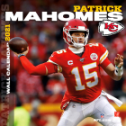 Kansas City Chiefs Patrick Mahomes 2021 12x12 Player Wall Calendar Cover Image