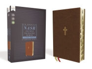Nasb, Thinline Bible, Large Print, Leathersoft, Brown, Red Letter Edition, 1995 Text, Thumb Indexed, Comfort Print Cover Image