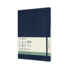 Moleskine 2021-2022 Weekly Planner, 18M, Extra Large, Sapphire Blue, Soft Cover (7.5 x 10) Cover Image