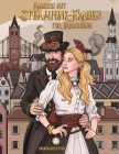 Malbuch mit Steampunk-Frauen für Erwachsene Cover Image