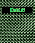 120 Page Handwriting Practice Book with Green Alien Cover Emilio: Primary Grades Handwriting Book Cover Image