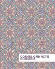 Cornell Grid Notes Notebook: Pink Mandala Pattern Grid Notebook Supports a Proven Way to Improve Study and Information Retention. Cover Image