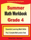 Summer Math Workbook Grade 4: Essential Learning Math Skills Plus Two Complete Math Practice Tests Cover Image