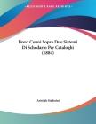 Brevi Cenni Sopra Due Sistemi Di Schedario Per Cataloghi (1884) Cover Image