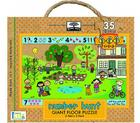 Green Start Giant Floor Puzzles: Number Hunt (35 Piece Floor Puzzles Made of 98% Recycled Materials) Cover Image