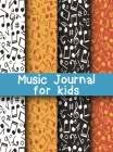 Music Journal for Kids: Dual Wide Staff Manuscript Sheets and Wide Ruled/Lined Songwriting Paper Journal For Kids and Teens Cover Image