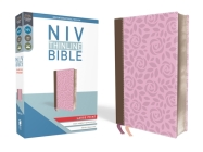 NIV, Thinline Bible, Large Print, Imitation Leather, Pink, Red Letter Edition Cover Image