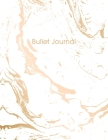 Bullet Journal: Trendy White Marble and Gold - 8.5 x 11 - 100 pages - Dot Grid Bullet Journal Notebook, Gift for Women and Teen Girls Cover Image