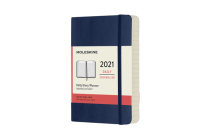 Moleskine 2021 Daily Planner, 12M, Pocket, Sapphire Blue, Soft Cover (3.5 x 5.5) Cover Image