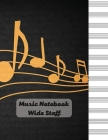 Music Notebook - Wide Staff Cover Image