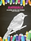 Stress Relieving Coloring Books for Women - Animals Cover Image