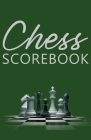 Chess Scorebook: Score Page and Moves Tracker Notebook, Chess Tournament Log Book, 100 Games with 62 Moves, Cream Paper, 5.5″ x 8 Cover Image