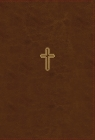 Nasb, Thinline Bible, Giant Print, Leathersoft, Brown, Red Letter Edition, 1995 Text, Thumb Indexed, Comfort Print Cover Image