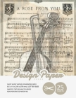 Sheet Music Vintage Scrapbook Paper: Decorative Scrapbooking Paper for Crafting, Card Making, Decorations, Collage, Printmaking, 8.5x11, 25 Pack, Musi Cover Image