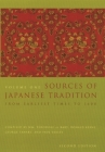 Sources of Japanese Tradition: From Earliest Times to 1600 (Introduction to Asian Civilizations) Cover Image