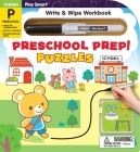 Play Smart Preschool Prep! Puzzles Ages 2-4: At-home Write & Wipe Workbook with Erasable Pen Cover Image