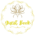 Evening Awl Guest Book Any Occasions Book White and Gold Design Cover Image