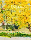 Dreamer: College Ruled Paper with Full Premium Colored YELLOW Pages and a blue flower illustration on each page, 8.5 x 11- 80 P Cover Image