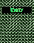 120 Page Handwriting Practice Book with Green Alien Cover Emily: Primary Grades Handwriting Book Cover Image