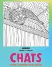 Livres à colorier pour adultes - Fleurs et motifs - Animaux - Chats Cover Image