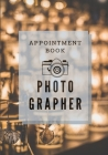 Photographer Appointment book - vintage lamp shadow blur beautiful shine cover: POP Gift For men, women photographer Who love photo Business size 7X10 Cover Image