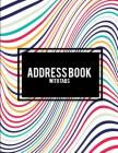 Address Book with Tabs: Beauty Art Book, 8.5