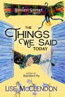The Things We Said Today Cover Image