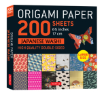 Origami Paper 200 Sheet Japanese Washi Patterns 6 3/4 17 CM: High-Quality Double Sided Origami Sheets with 12 Different Patterns (Instructions for 6 P Cover Image