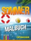 Sommer Malbuch: entspannende Strand-Urlaubs-Szenen, friedliche Ozean-Landschaften Cover Image