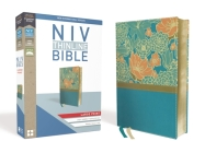 NIV, Thinline Bible, Large Print, Imitation Leather, Blue, Red Letter Edition Cover Image