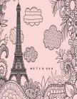 Notebook: Eiffel tower in london on pink cover and Dot Graph Line Sketch pages, Extra large (8.5 x 11) inches, 110 pages, White Cover Image