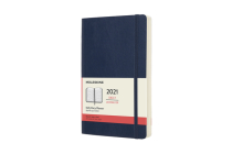 Moleskine 2021 Daily Planner, 12M, Large, Sapphire Blue, Soft Cover (5 x 8.25) Cover Image