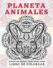 Planeta animales - Libro de colorear - Murciélago, Quokka, Tejón, Zorro, otros Cover Image