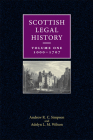 Scottish Legal History: Volume 1: 1000-1707 Cover Image