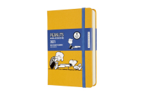 Moleskine 2021 Peanuts Daily Planner, 12M, Pocket , Piano, Hard Cover (3.5 x 5.5) Cover Image