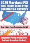 2020 Maryland PSI Real Estate Exam Prep Questions and Answers: Study Guide to Passing the Salesperson Real Estate License Exam Effortlessly Cover Image