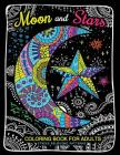 Moon and Stars Coloring Book For Adults: Stress Relieving Patterns to Color For Relaxation Cover Image