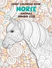 Adult Coloring Book Jumbo size - Animal - Horse Cover Image