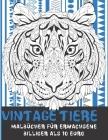 Malbücher für Erwachsene - Billiger als 10 Euro - Vintage Tiere Cover Image