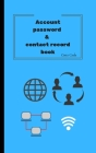 Account password & contact record book (Simple Style #2) Cover Image