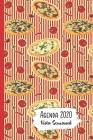 Agenda 2020 Vista Semanal: 12 Meses Programacion Semanal Calendario en Espanol Diseno Pizza Cover Image