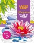 Large Print Happiness Color-by-Number (Large Print Puzzle Books) Cover Image