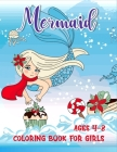 mermaid coloring book for girls ages 4-8: Cute funny Mermaids Activity Book for Kids girls boys teen students Workbook drawing. colouring colored book Cover Image
